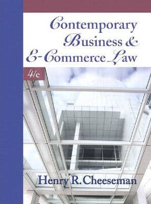 Contemporary Business and e-Commerce Law