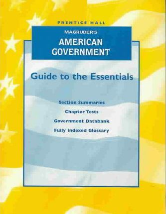 Magruder's American Government Guide to Essentials English Edition 2001c
