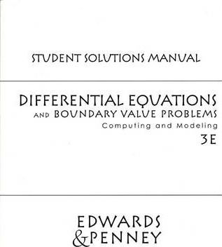 Differential Equations and Boundary Value Problems: Student Solutions Manual