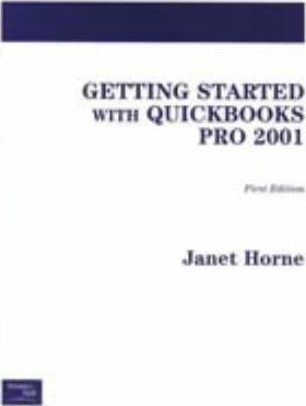 Getting Started with Quickbooks Pro 2001
