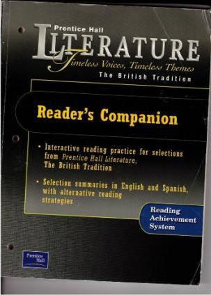 Prentice Hall Literature Timeless Voices Timeless Themes 7th Edition Reader's Companion Grade 12 2002c