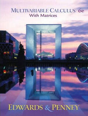 Multivariable Calculus with Matrices