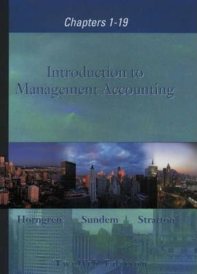 Introduction to Management Accounting 1-19 and Student CD package