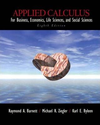 Applied Calculus for Business Economics, Life Sciences and Social Science