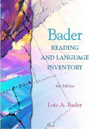 Bader Reading and Language Inventory and Readers Passages Pkg.