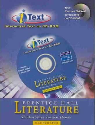 Prentice Hall Literature Timeless Voices Timeless Themes 7th Edition I-Text CD ROM Grade 10 2002c