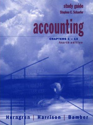 Accounting: Chapters 1-13