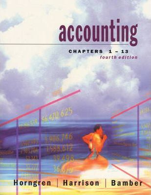 Accounting, Chapters 1-13