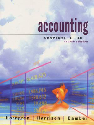Accounting, Chapters 1-18