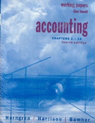 Accounting, Chap. 1-13 and A-1 Photography and Surfing for Success Accounting and Working Papers 1-13 Package