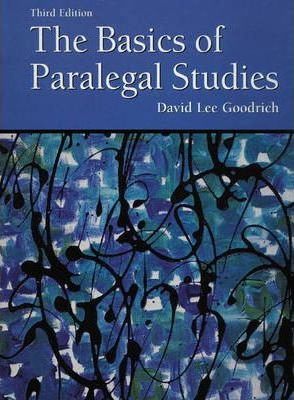 The Basics of Paralegal Studies