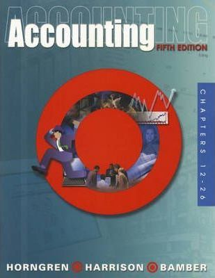Accounting: Chapters 12-26