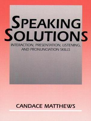 Speaking Solutions Instructor's Manual