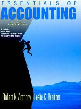 Essentials of Accounting: AND Post Test Booklet No. 8