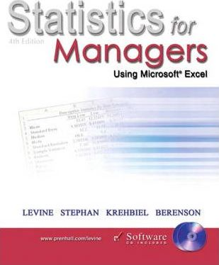 Statistics for Managers Using Microsoft Excel and Student CD Package