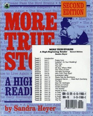 More True Stories: Beginning Reader Student Book + Audio CD Package