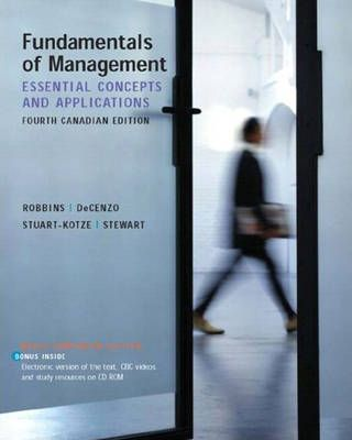 Fundamentals of Management: Candian Edition