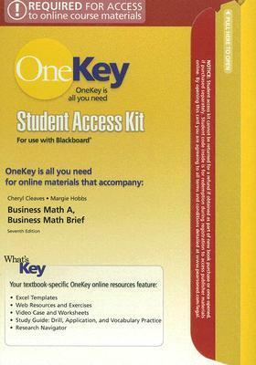 OneKey Blackboard, Student Access Kit, Business Math, Complete w/CD Study Guide PH Math Tutor Package
