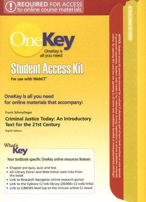 OneKey WebCT, Student Access Kit, Criminal Justice Today
