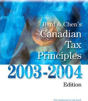 Canadian Tax Principles, 2003-2004 Edition