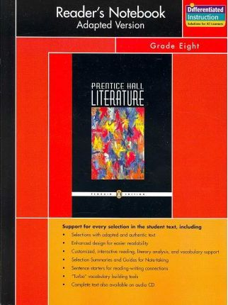 Prentice Hall Literature Penguin Edition Readers Notebook Adapted Version Grade 8 2007c