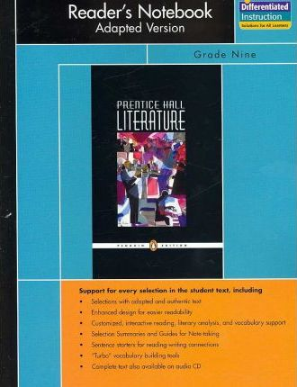 Prentice Hall Literature Penguin Edition Readers Notebook Adapted Versiograde 9