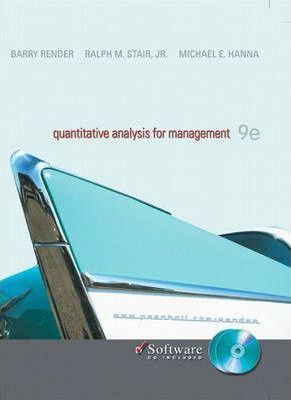 Quantitative Analysis for Management with CD  United States Edition
