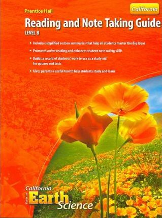Focus on Earth Science Reading and Note Taking Guide Level B California Edition