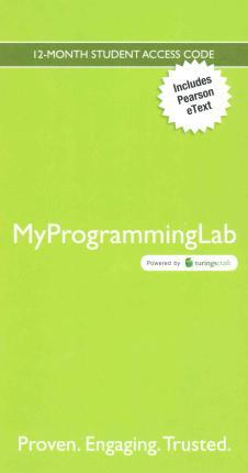 Myprogramminglab With Pearson Etext Access Card For Starting