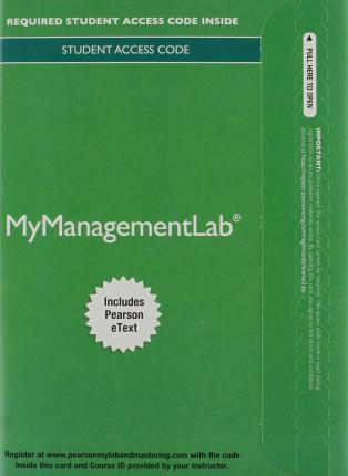 Mymanagmentlab with Pearson Etext -- Access Card -- For Managing Human Resources