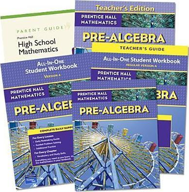 Prentice Hall High School 2009 Prealgebra Home School Bundle Kit Grade 9/12
