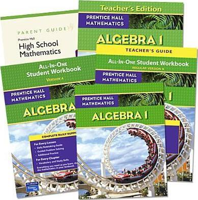 Prentice Hall High School 2009 Algebra 1 Home School Bundle Kit Grade 9/12