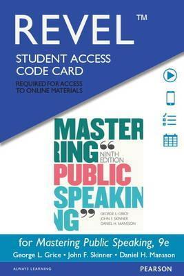 Revel for Mastering Public Speaking -- Access Card