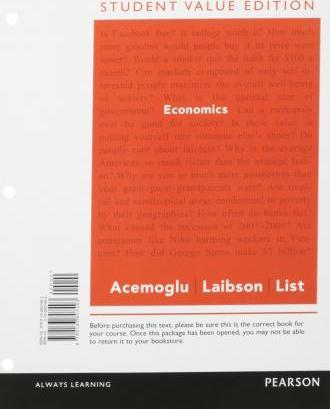 Economics, Student Value Edition Plus New Mylab Economics with Pearson Etext -- Access Card Package