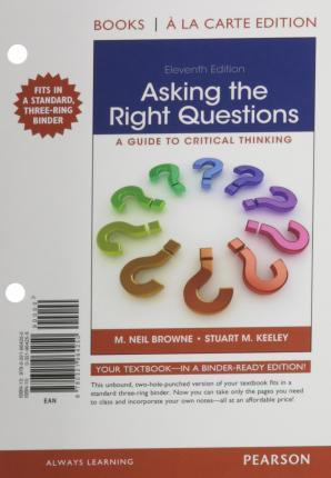 Asking the Right Questions, Books a la Carte Edition Plus Mywritinglab -- Access Card Package