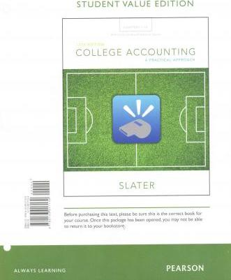 College Accounting Chapters 1-12 with Study Guide and Working Papers, Student Value Edition Plus Myaccountinglab with Pearson Etext -- Access Card Package