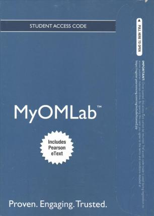 Myomlab with Pearson Etext -- Access Card -- For Operations Management