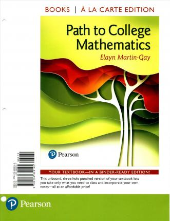 Path to College Mathematics, Books a la Carte Edition