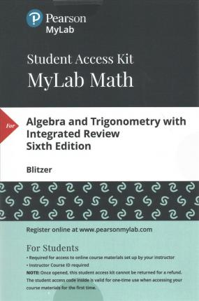 Mylab Math with Pearson Etext -- Standalone Access Card