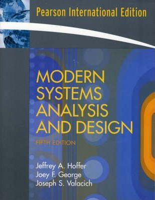 Modern Systems Analysis And Design Jeffrey Slater 9780136132967