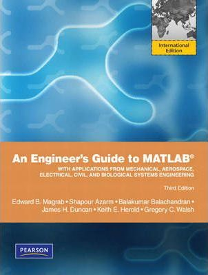 An Engineers Guide to MATLAB : Keith Herold : 9780137039548