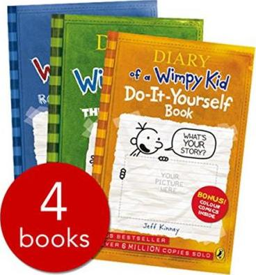 """Diary of a Wimpy Kid Box Set: """"Diary of a Wimpy Kid"""" WITH """"Rodrick Rules"""" AND """"The Last Straw"""" AND """"Dog Days"""""""