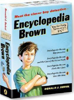 encyclopedia brown finds the clues sobol donald j