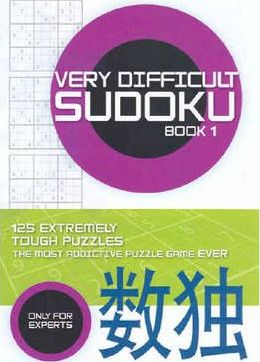 Very Difficult Sudoku: Bk. 1