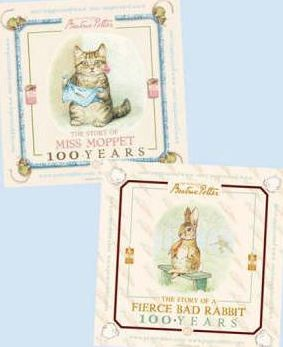 The Story of Miss Moppet and The Story of Fierce Bad Rabbit Centenary Poster