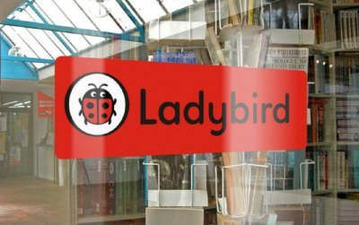 Ladybird Rebrand Promotion Window Sticker