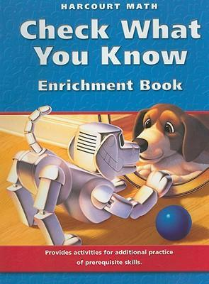 Harcourt Math Check What You Know Enrichment Book, Grade 3