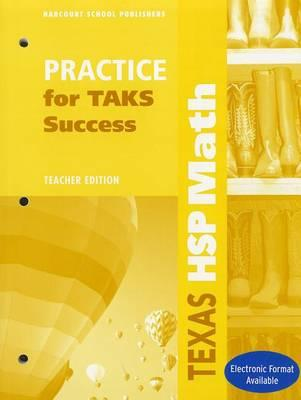 Texas HSP Math Practice for TAKS Success, Grade 2