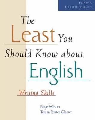 The Least You Should Know About English: Form A