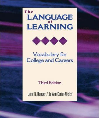 The Language of Learning Vocab for Col S
